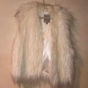 White Fur Guess Vest